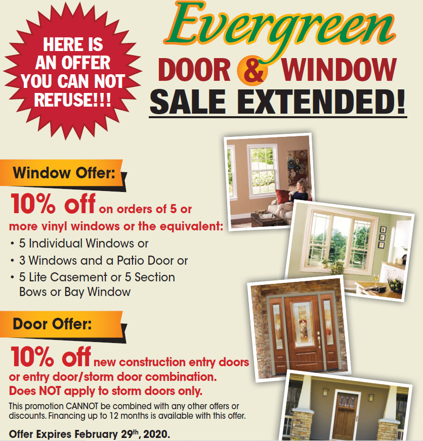 Evergreen Is Leading Supplier And Installer Of Windows Doors In Ontario We Helping Our Customers To Save On Replacement While